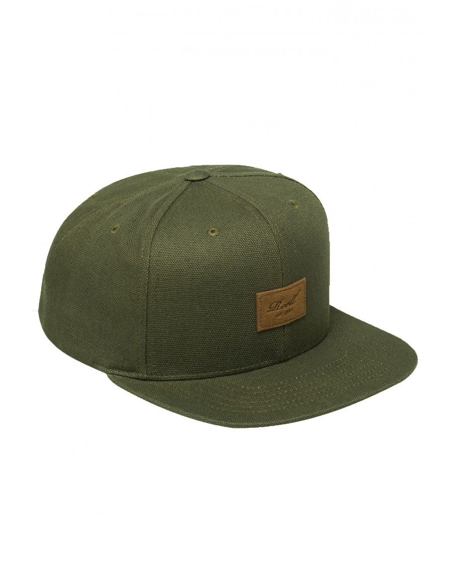 Reell 6 panel Pitchout cap snapback all olive
