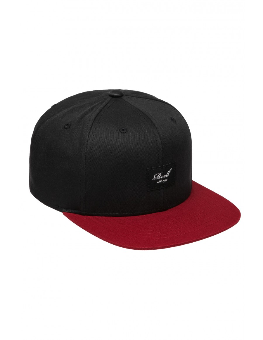 Reell 6 panel Pitchout cap snapback black burgundy