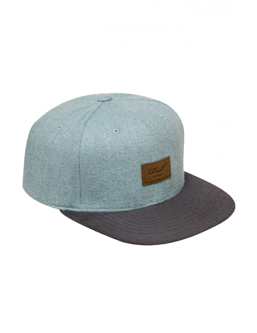 Reell 6 panel Pitchout cap snapback blue wool