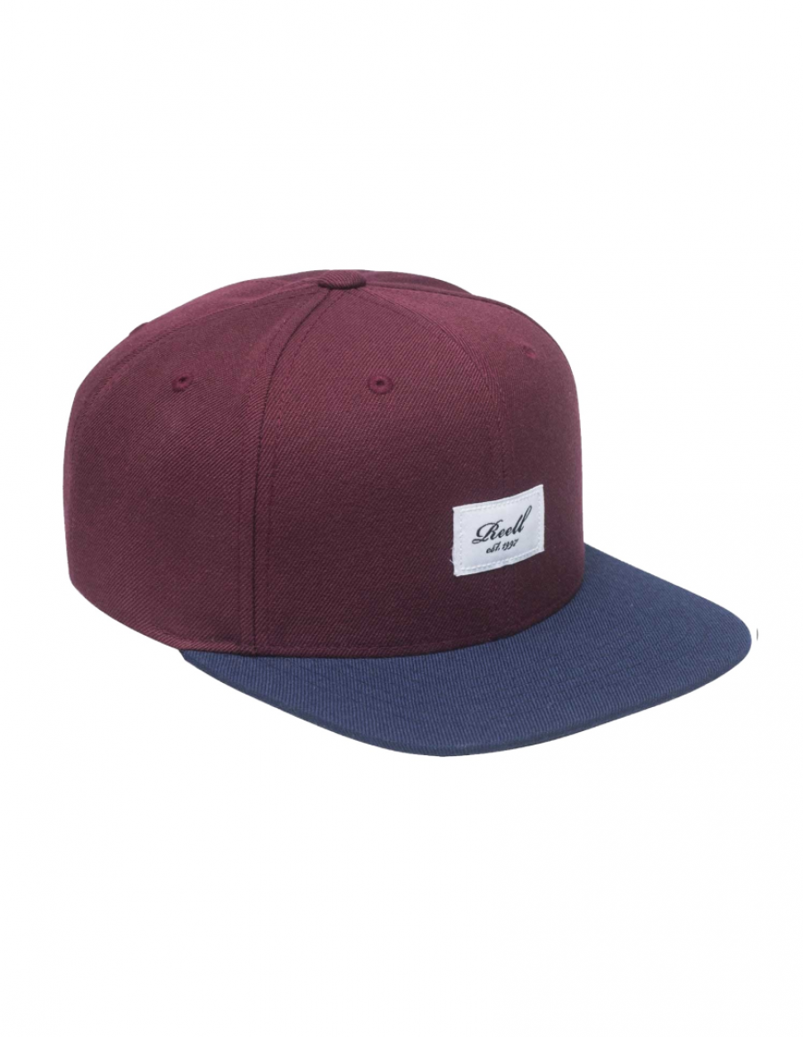 Reell 6 panel Pitchout snapback Burgundy - navy