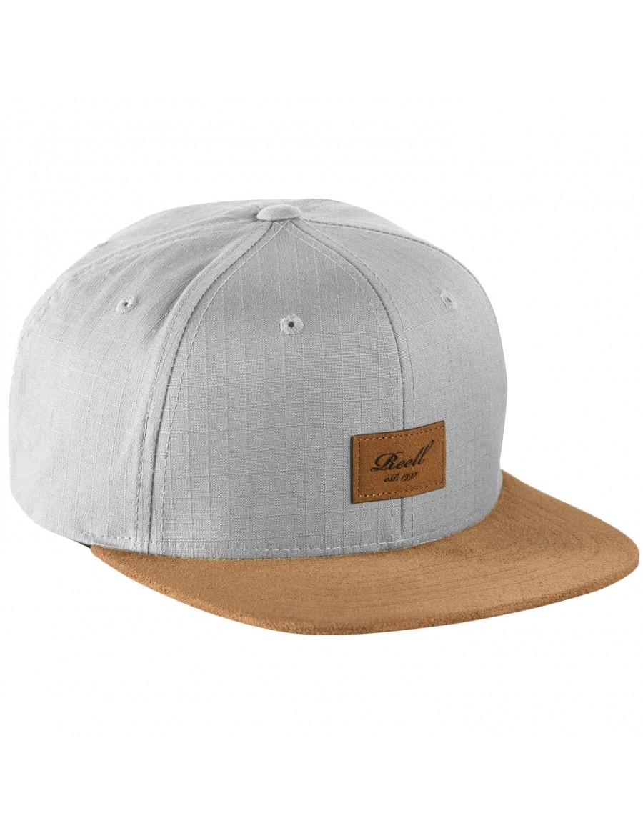 Reell 6 panel Suede cap Snapback Silver