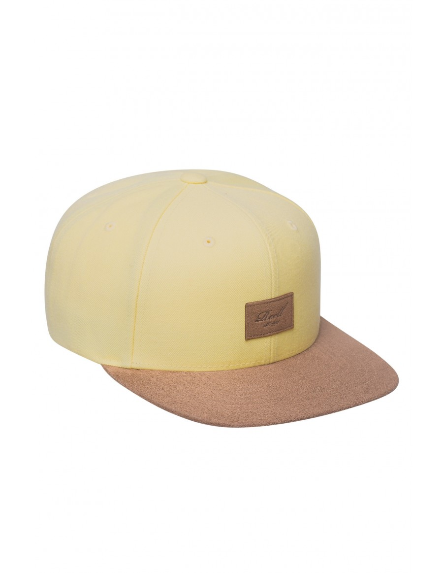 Reell 6 panel Suede cap snapback Yellow