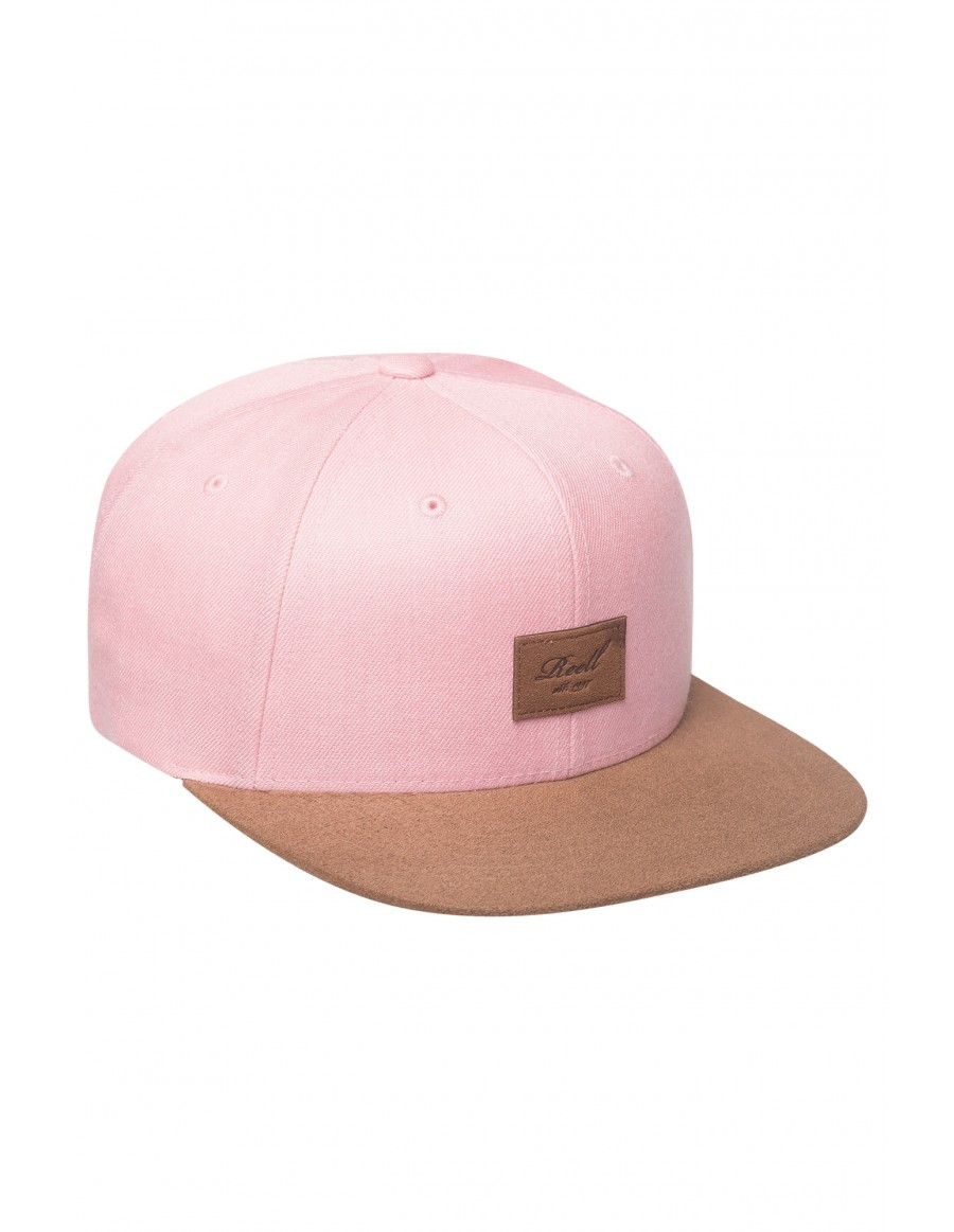 Reell 6 panel Suede cap snapback Pink