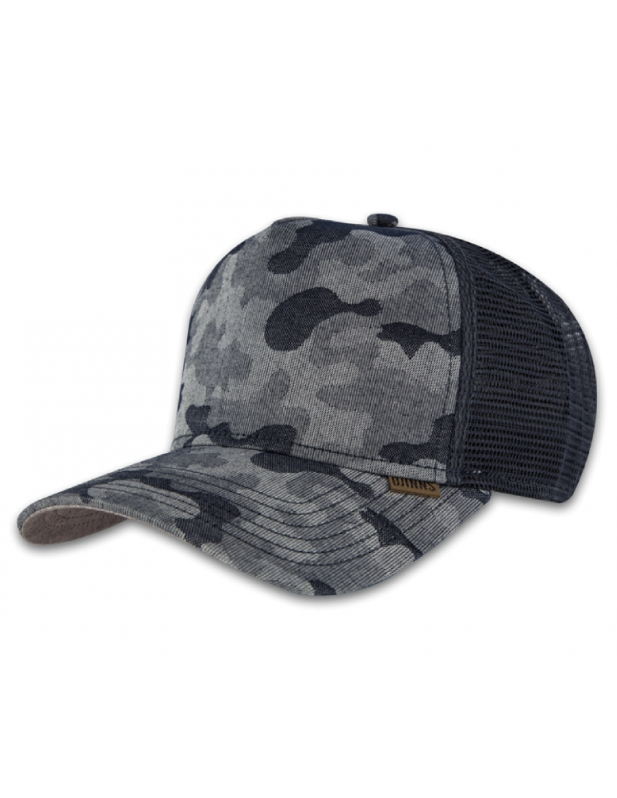 Djinn's Summer Canvas Camo Trucker Cap grey