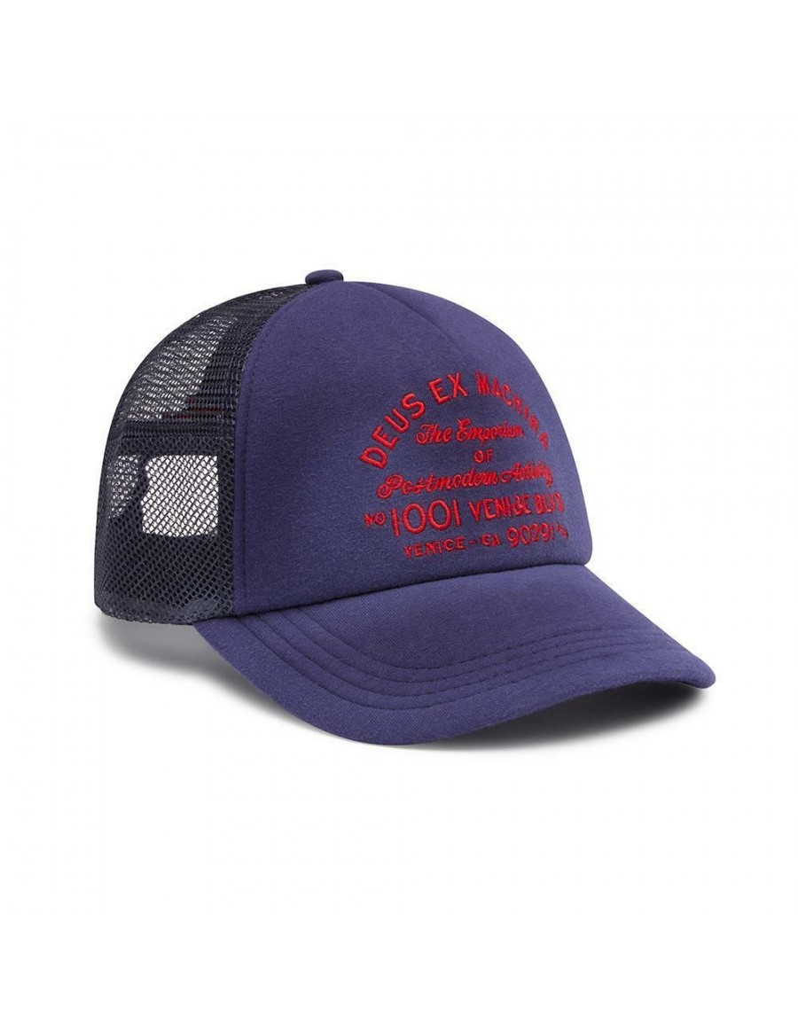 DEUS Bleached Venice Trucker cap - Estate Blue