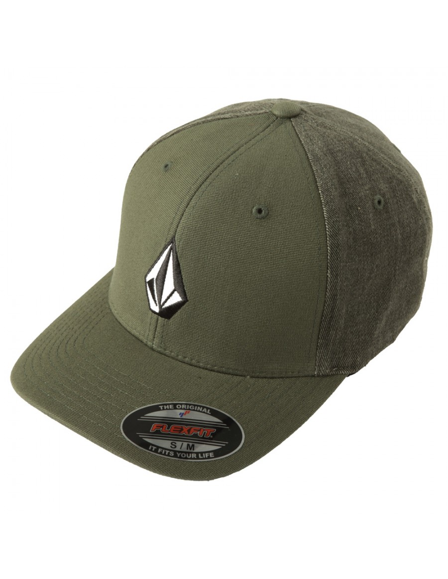Volcom Full stone flexfit hat Cedar Green - Sale