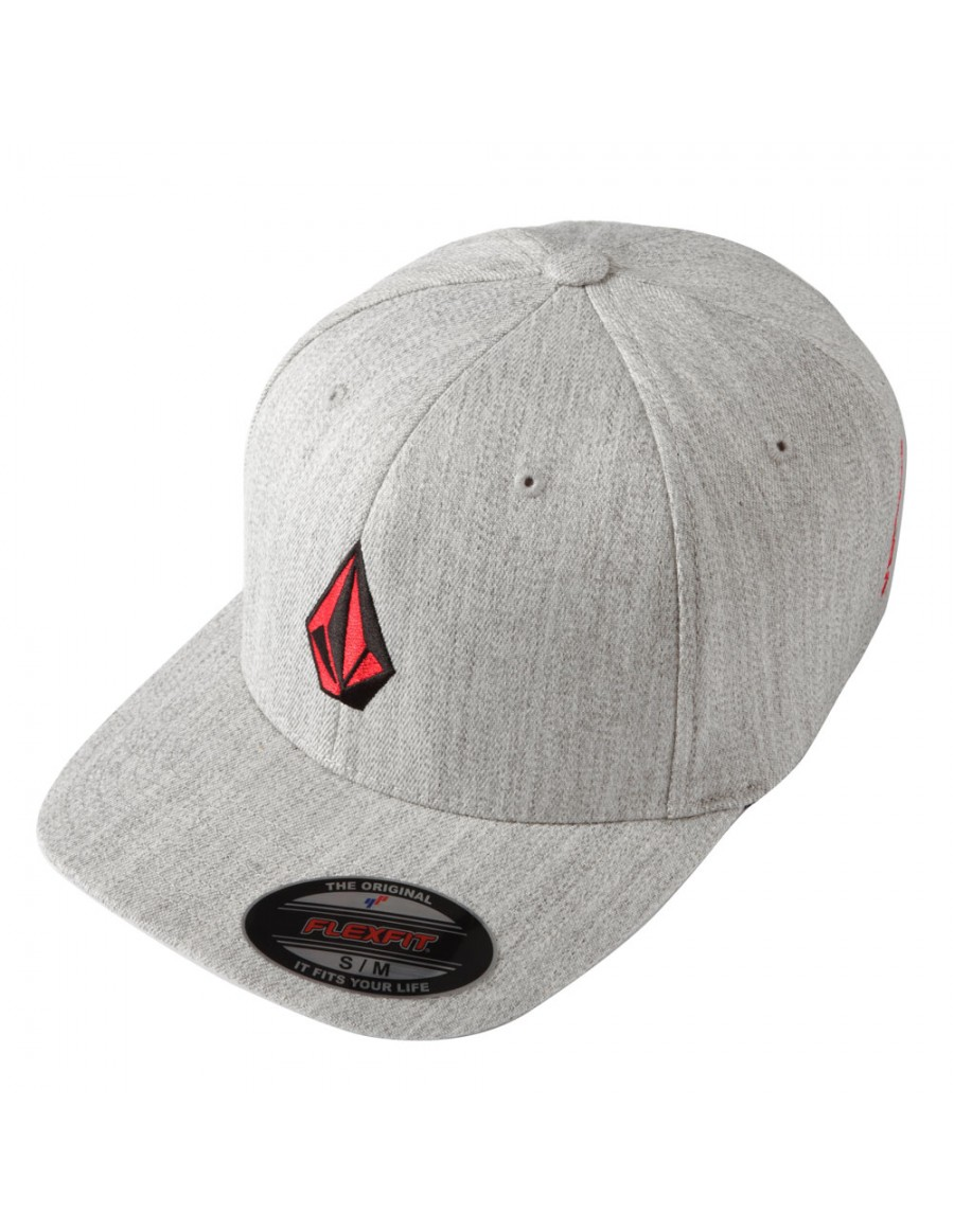 Volcom Full stone flexfit hat XFIT Heather grey