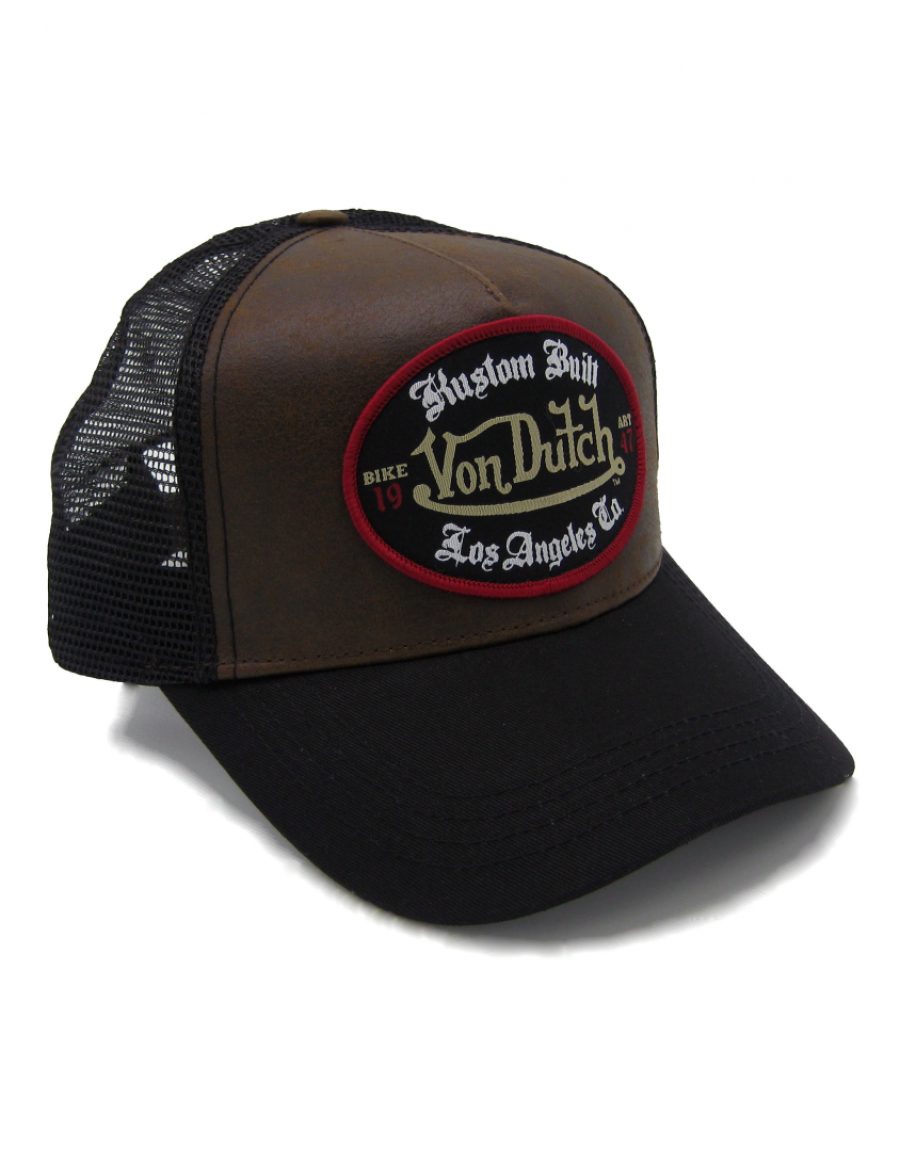 Von Dutch Custom Built trucker cap - brown black