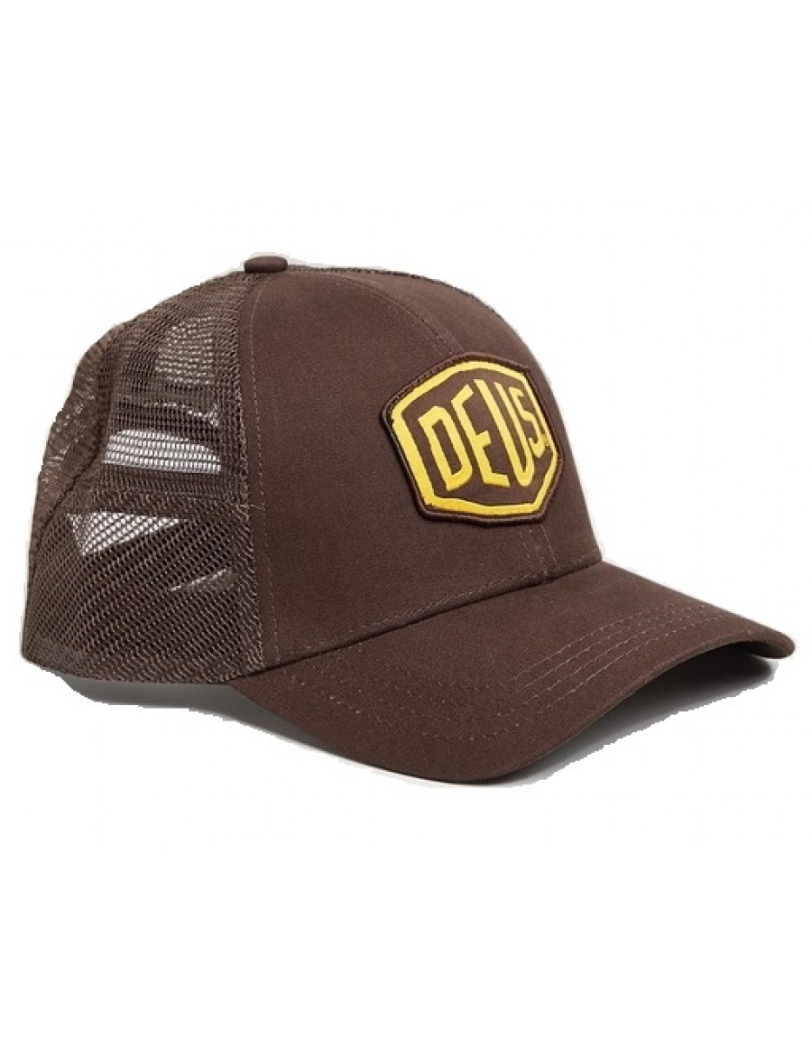 DEUS Woven Shield Trucker cap - Brown