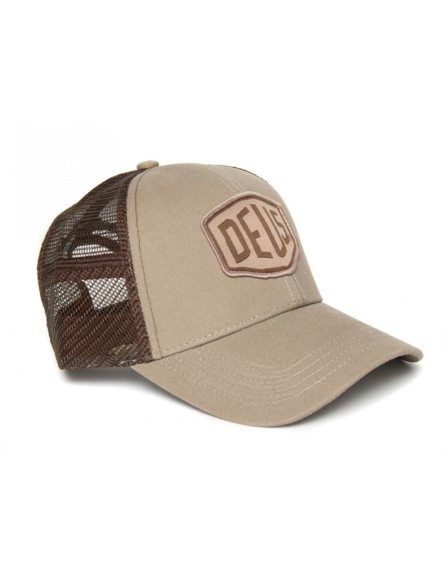 DEUS Woven Shield Trucker cap - Safari
