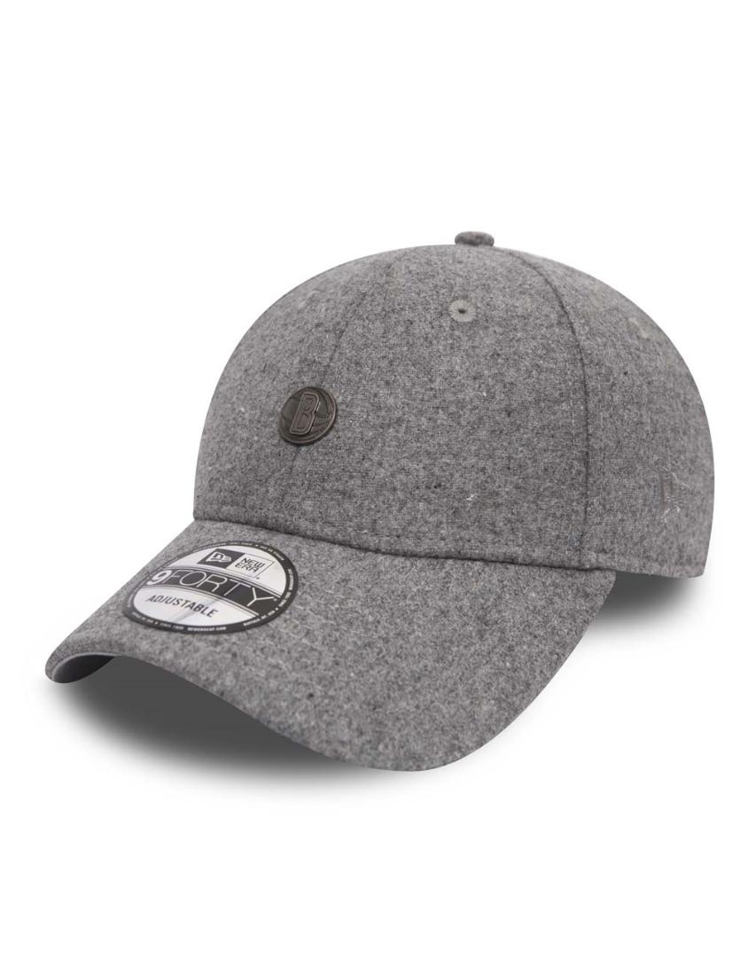 b77f8bd011ac6 New Era 9Forty Pin Badge (940) Brooklyn Nets Grey