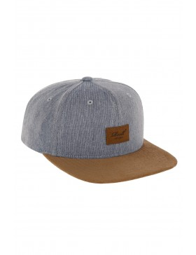 Reell 6 panel Suede cap Snapback Heather Navy