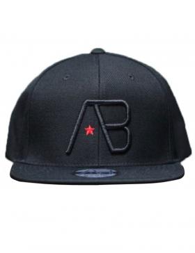 AB cap Snapback - black on black