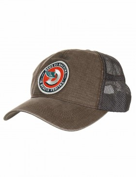 DEUS Australian Embroided Marley Trucker cap - Cocoa