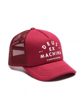 DEUS Austin Camperdown Trucker cap - Sangria Red
