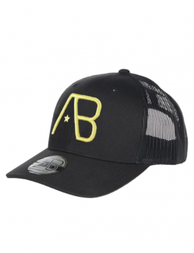 AB cap Retro Trucker - Black / Yellow