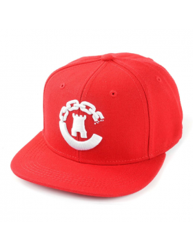 Crooks & Castles Hybrid C snapback red