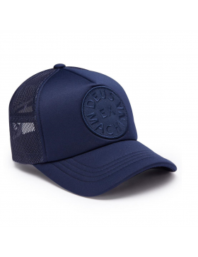DEUS Circle Trucker cap - Navy