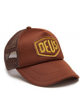 DEUS Trucker pet Felt Shield - brown
