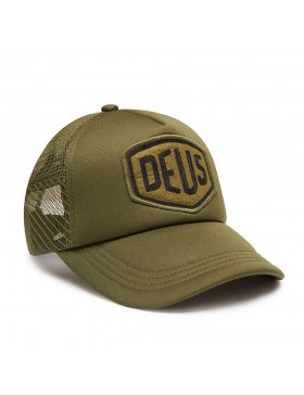 DEUS Trucker pet Felt Shield - olive