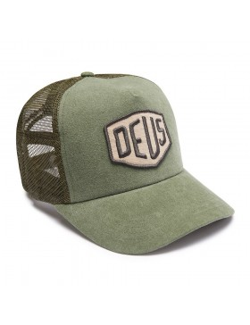DEUS Trucker pet Foxtrot Shield - olive