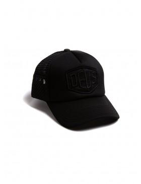 DEUS Fleece Shield Trucker cap - Black