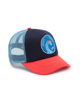 DEUS Friendly Waves Trucker cap - Navy