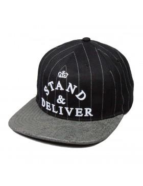 King Apparel Stand & Deliver Snapback black