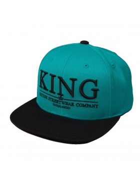 KING Apparel Krest Select Snapback teal-black - Sale