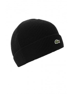 Lacoste Knitted Beanie - Black