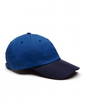 Lacoste pet - Contrast visor stretch twill - navy blue