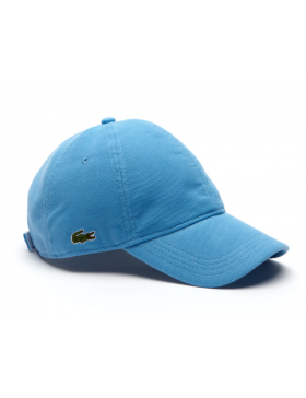Lacoste pet - cotton pique - thermes blue