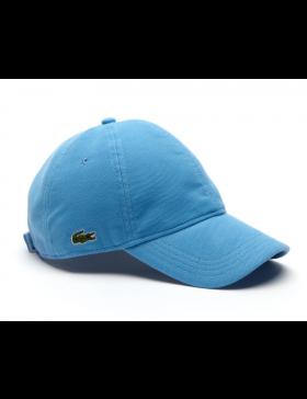Lacoste pet - cotton pique - thermes blue