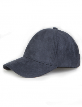 NVLTY London Suede cap Curved - navy