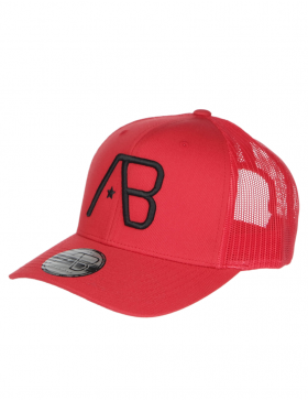 AB cap Retro Trucker - Red / Black Star