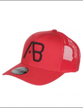 AB cap Retro Trucker - Red / Black Star