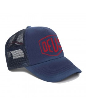 DEUS Sun Bleached Trucker cap - Estate Blue