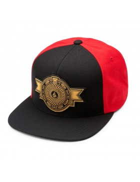 Volcom x Spitfire Snapback cap Drip Red - Sale