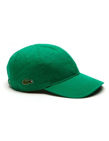 Lacoste pet - Gabardine cap - yucca green