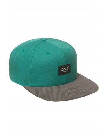 Reell 6 panel Pitchout snapback Petrol Blue / Grey Black