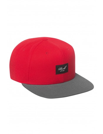 Reell 6 panel Pitchout snapback Red / Grey Black