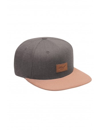 Reell 6 panel Suede cap snapback Heather Charcoal