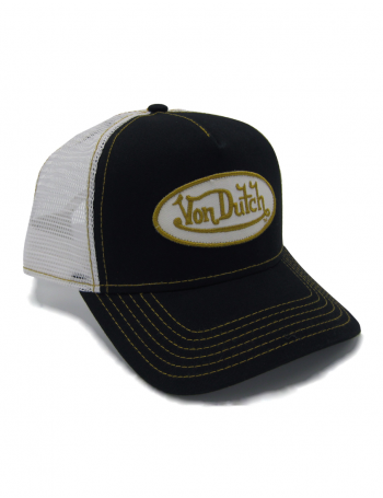 Von Dutch Logo trucker cap - black yellow
