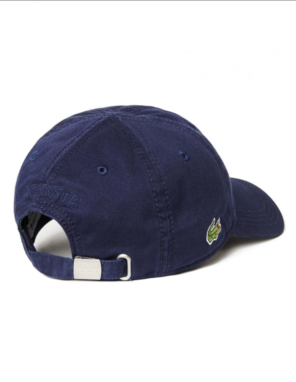 ca3381ed49b6f Lacoste pet - Gabardine cap - navy blue